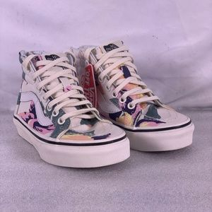 Youth Girl's Vans Zip High Top Skateboard Shoes